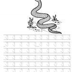 แบบคัดลายมือ ง งู